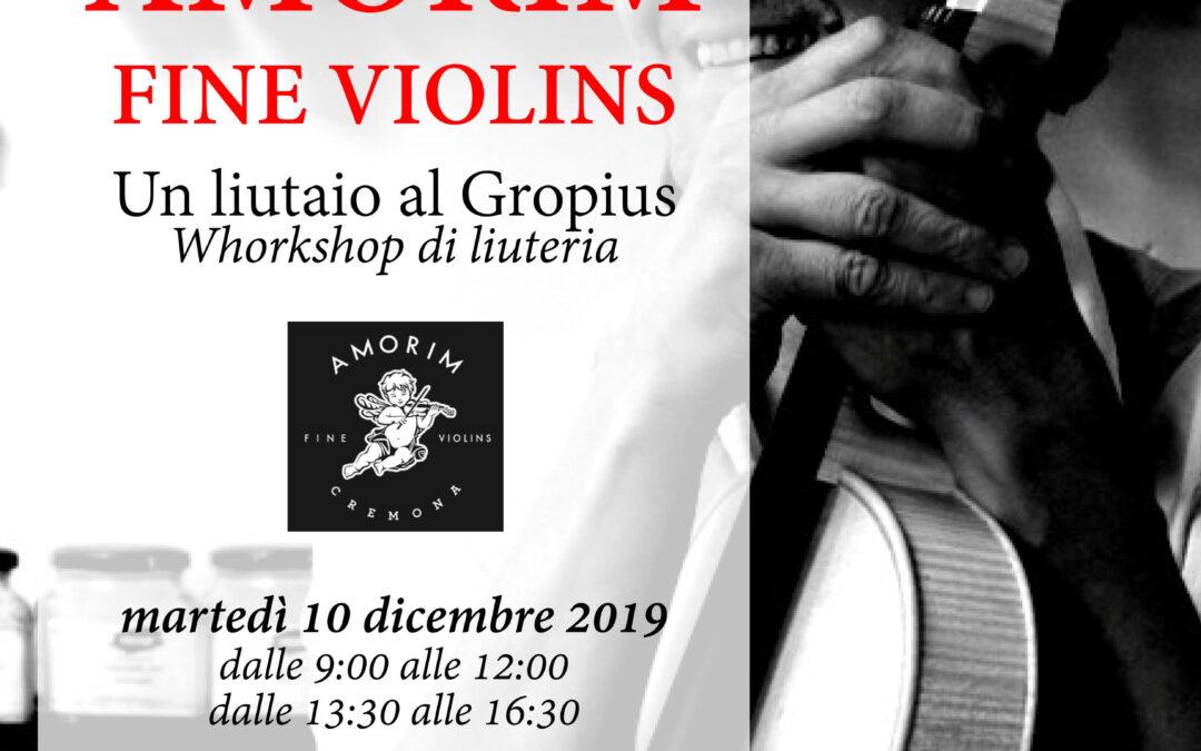 Indicazioni organizzative relative al Workshop di liuteria tenuto dai M° Amorim che si terrà martedi 10 dicembre