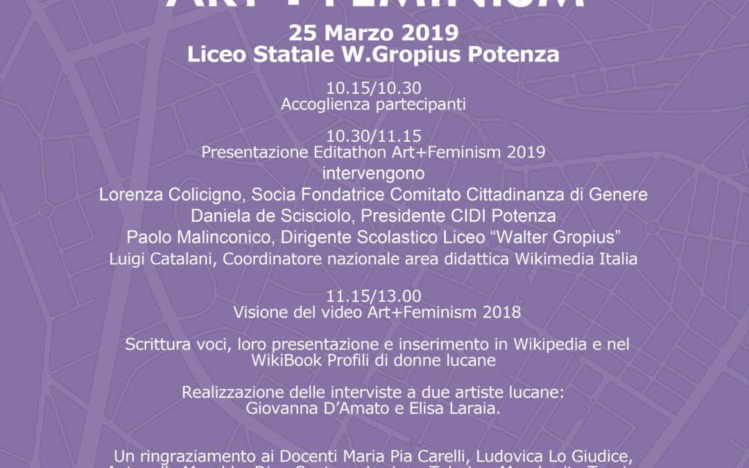 EVENTO ART+FEMINISM WIKIDONNE DEL 25 MARZO 2019