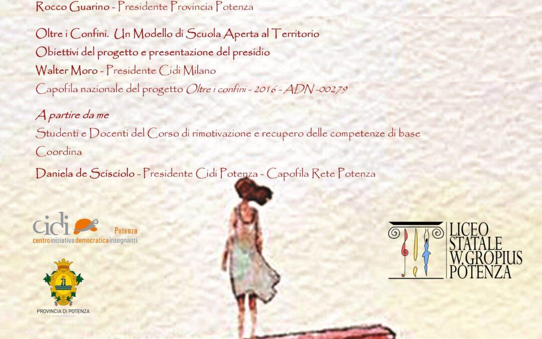 """Lunedì 13 gennaio l'inaugurazione del presidio educativo """"Oltre i confini"""""""