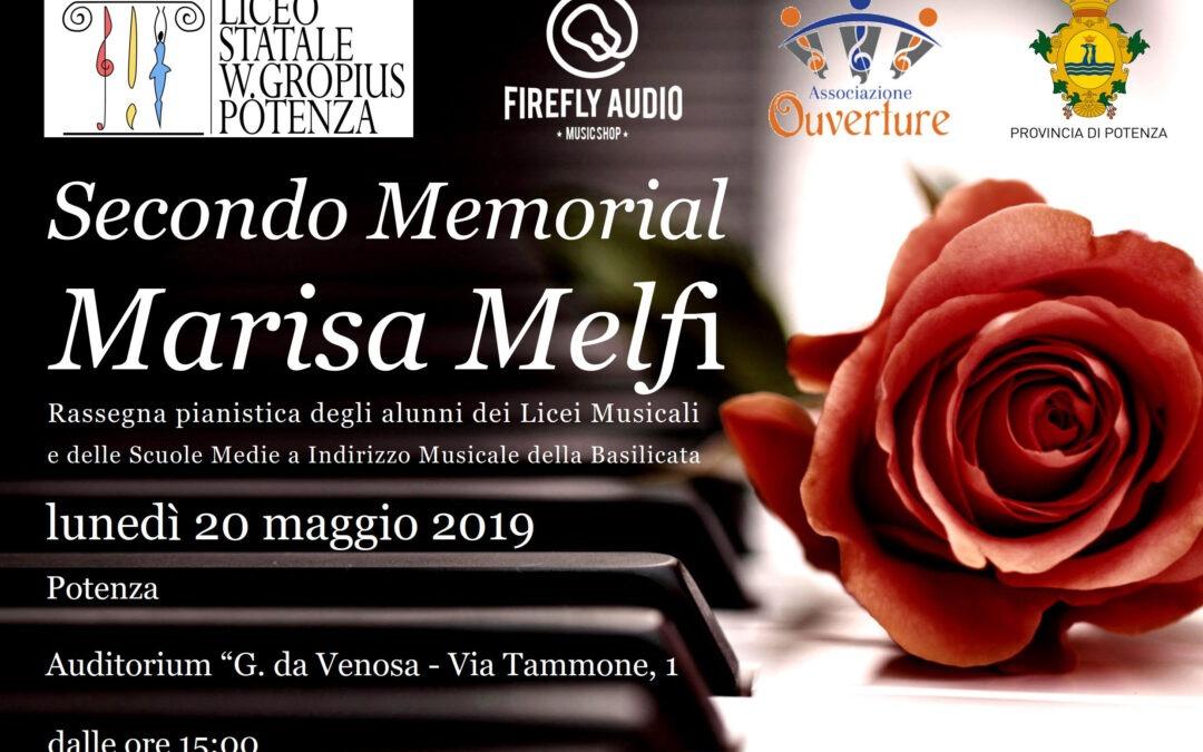 "LUNEDì 20 MAGGIO – II RASSEGNA PIANISTICA ""MEMORIAL MARISA MELFI"""
